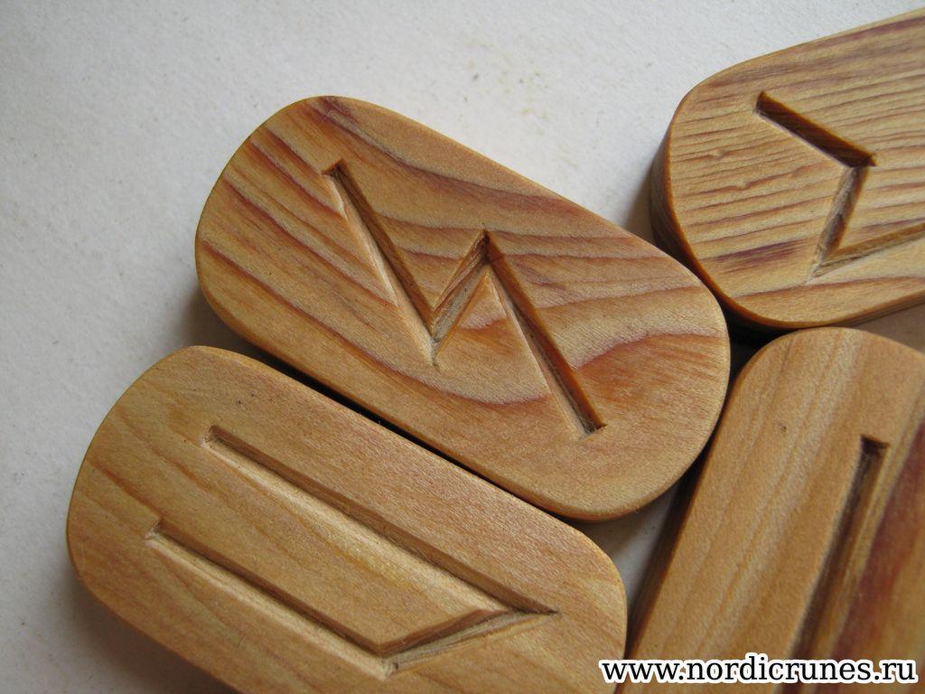 Скандинавские руны своими руками из дерева 95